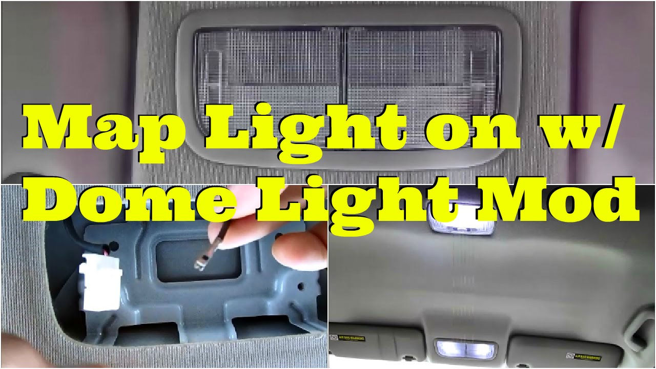 Tutorial: Map light on with dome light mod DiyCarModz  YouTube