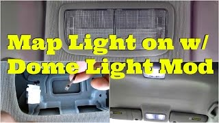 Tutorial: Map light on with dome light mod -DiyCarModz