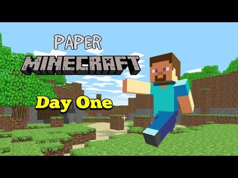 Paper Minecraft   Day One
