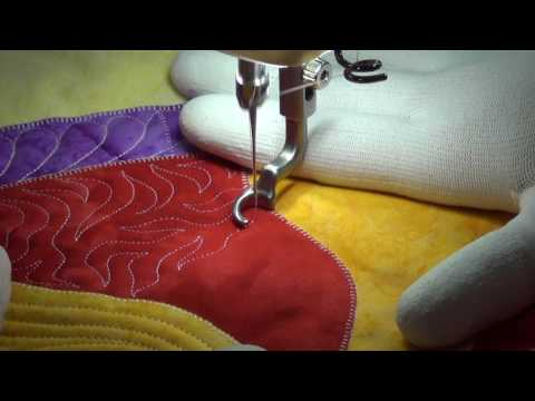 Beginner Machine Quilting Sharp Stippling - Quilting Tutorial With Leah Day