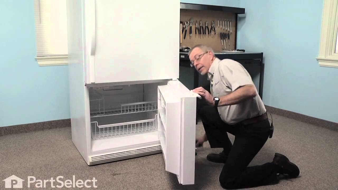 Refrigerator Repair- Replacing the Freezer Door Handle (Whirlpool ...