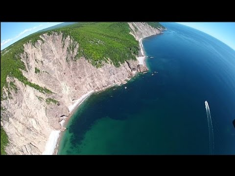 Aerial view off the cabot trail