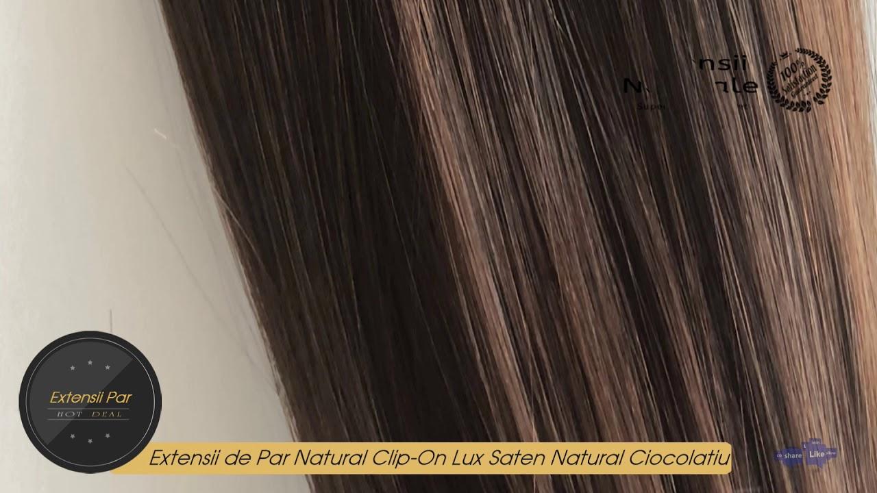 Extensii De Par Natural Clip On Lux Saten Natural Ciocolatiu 3 Youtube