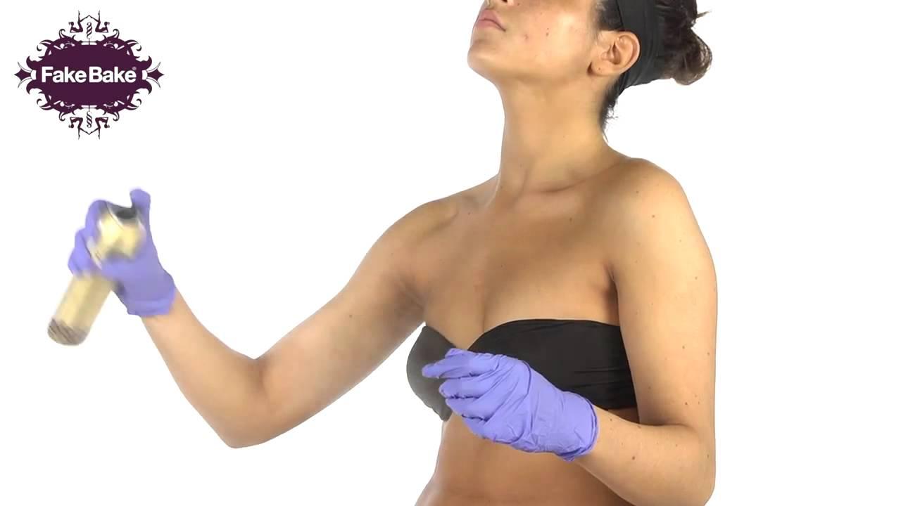 how to apply spray fake tan