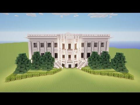Minecraft Como Fazer A Casa Branca Youtube