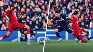 Someone dribbled past virgil van dijk! dijk was destroyed by hwang hee-chan in the champions league game against salzburg, player completed a fantast...