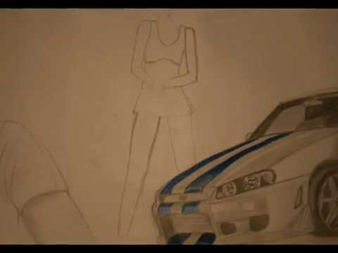 Drawing Fast and Furious Wallpaper Design / Autozeichnung (www ...