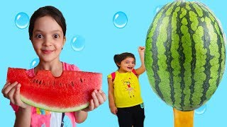 Ice cream & Giant Watermelon, Johny Johny Yes Papa song for kids, video for children