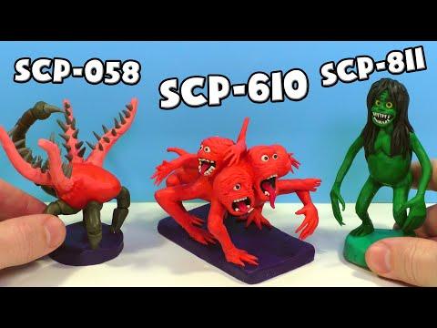 SCP-811 Болотниця, SCP-610 ненавидить плоть і SCP-058 Серце темряви-ліпимо з пластиліну