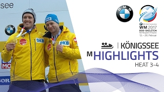 Highlights Heat 3-4 | Friedrich puts on a show in KÖnigssee | BMW IBSF World Championships 2017