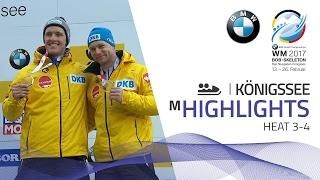 Highlights Heat 3-4 | Friedrich puts on a show in KÖnigssee | BMW IBSF World Championships 2017