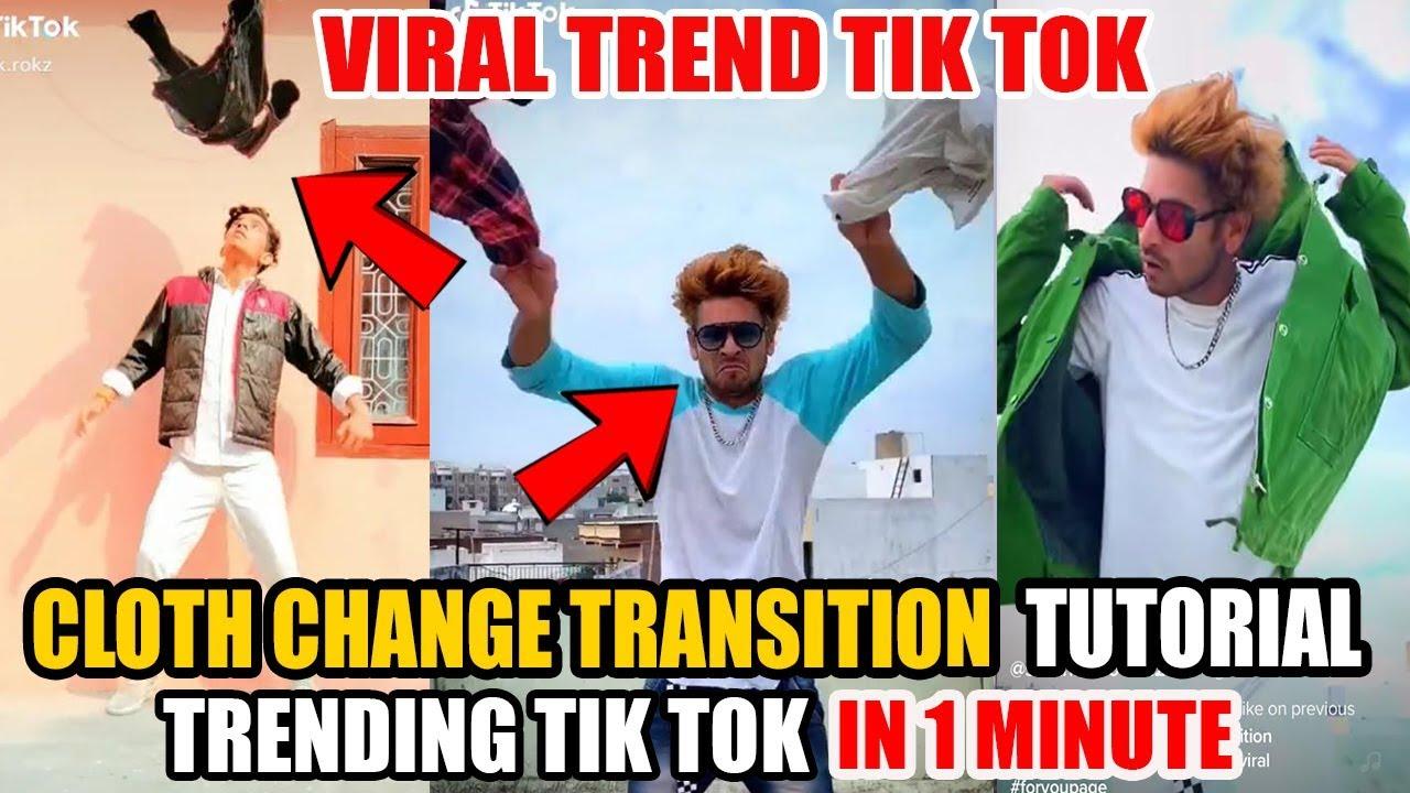 Cloth Changing Trending Tik Tok Tutorial Tiktok New Trend Shirt Change Transition Kaise Banaye Youtube