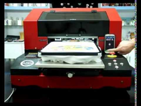 New APEX A3 Direct to Garment Printer Print Test