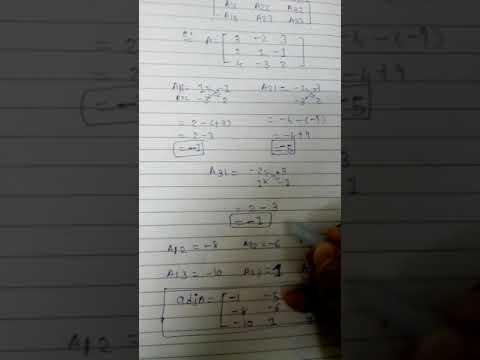 How to find adjA of 3×3 matrix