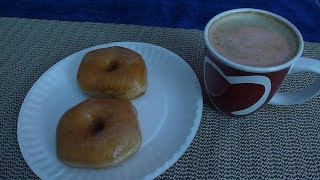 Asmr: Eating Glazed Donuts & Drinking Coffee ( French Vanilla Cappuccino )