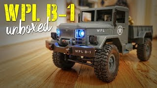WPL B-1 1/16th Scale 4WD Military RC Truck Unboxing & Play Time!