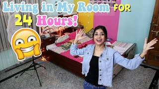 Living in my room for 24 HOURS! *without phone*! *this is what happend*