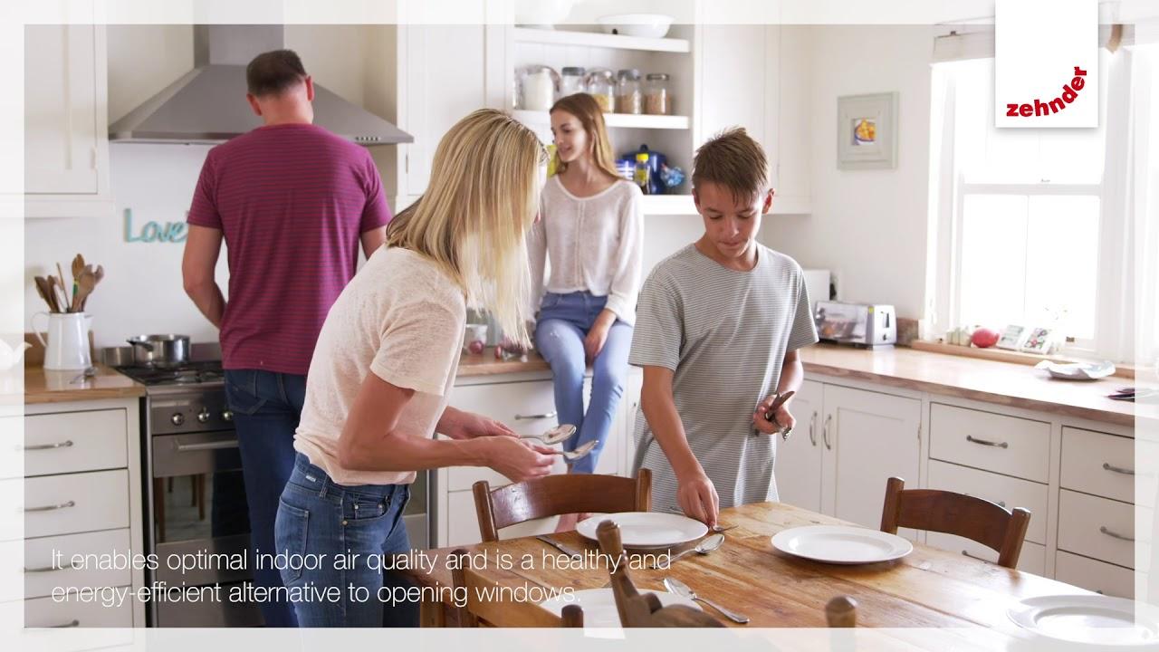 Zehnder Comfortable indoor ventilation: humidity recovery
