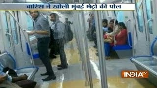Mumbai Metro suffers leakage due to rain in first month thumbnail