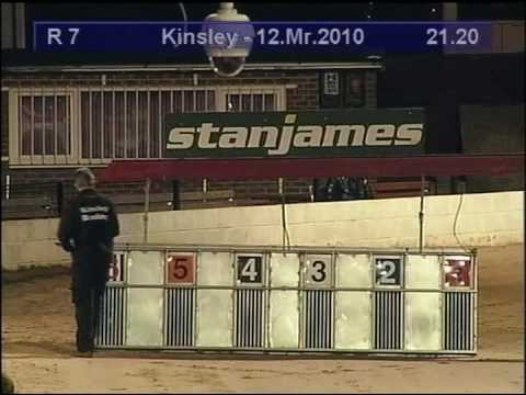kinsley dogs daithis beag winning his 1st race 12/03/2010