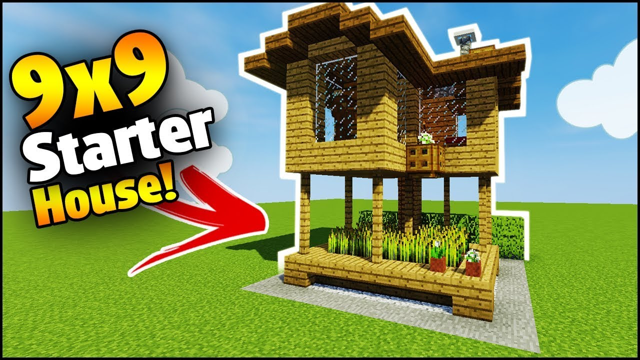 Minecraft  9x9 Starter House Tutorial - How To Build A House In Minecraft
