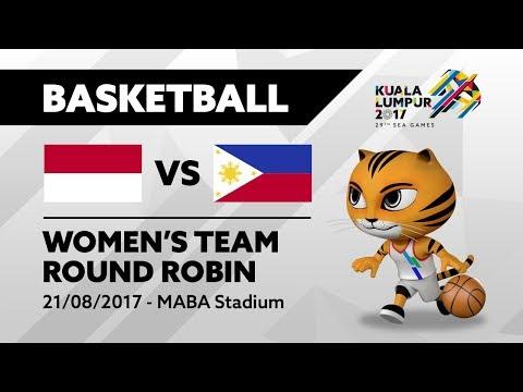 KL2017 29th SEA Games |  Women's Basketball - INA 🇮🇩 vs PHI 🇵🇭 | 21/08/2017