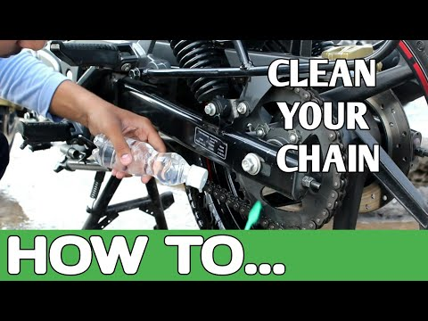 How to clean a bike chain without using any chain cleaner || remove bike scratches || pulsar