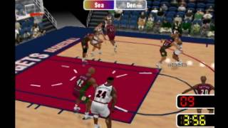 NBA Courtside 2: Featuring Kobe Bryant - Seattle Sonics vs Denver Nuggets Full Arcade Mode Game