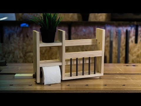 Magazine Rack with BUILT IN Toilet Roll Holder   Part 2   Cheap Wood Projects