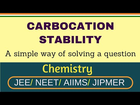 CARBOCATION STABILITY FOR JEE NEET