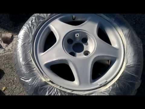 NAPRAWA felgi aluminiowej (usunięcie rys i lakierowanie) samodzielnie i tanio