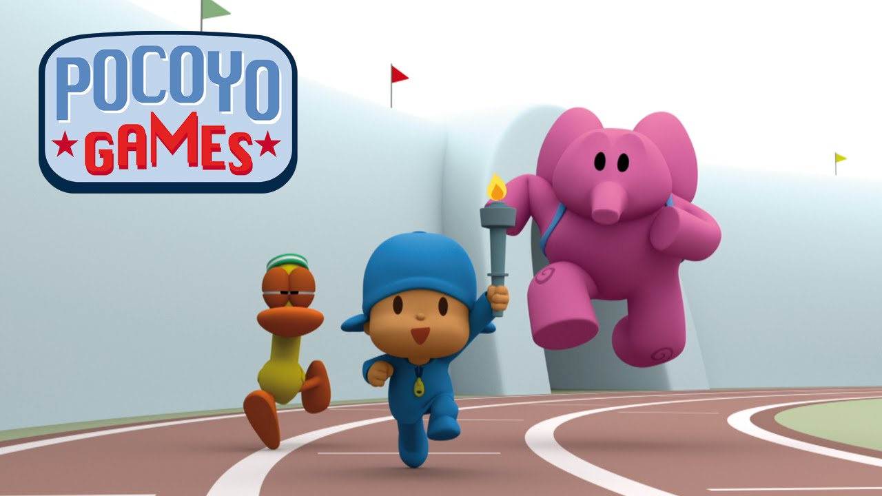 Pocoyo Games The Race Of The Flame Compilation Youtube