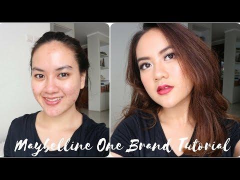 MAYBELLINE One Brand Makeup Tutorial untuk wajah berjerawat / acne prone skin