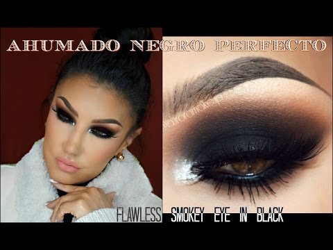 Maquillaje Ahumado en NEGRO paso a paso PERFECTO / Flawless SMOKEY EYE in BLACK | auroramakeup Video