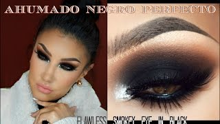 Maquillaje Ahumado En Negro Paso A Paso Perfecto Flawless Smokey Eye In Black Auroramakeup Youtube