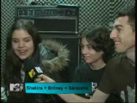 Sanziana and XYZ band - interview MTV Romania