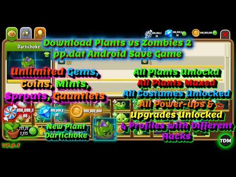 Plants Vs Zombies 2 V7.9.3 Pp.dat | New Plant Dartichoke | Unlimited Gems, Coins, All Paid Plants