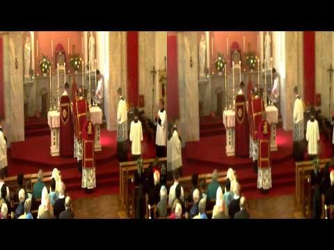 Saint Winifred solemn latin mass in 3D 2014