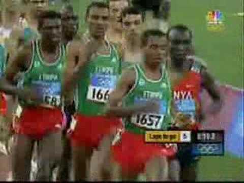 Kenenisa Bekele & Hicham El Guerrouj Athens Olympics 5000m