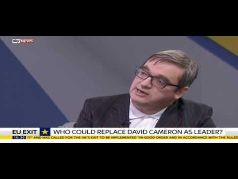 Phillip Blond on 2016 Tory Leadership Election | Sky News | 25th June 2016