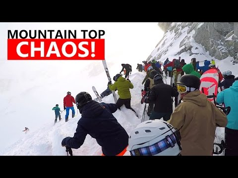 Generate Mountain Top CHAOS! - Extreme Powder Snowboarding Tips Images