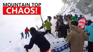 Mountain Top CHAOS! - Extreme Powder Snowboarding Tips