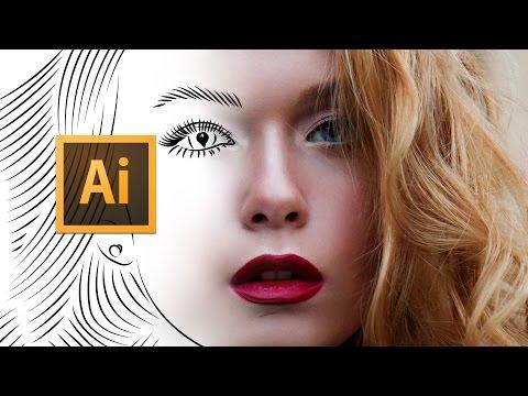 Adobe Illustrator CC - Line Art Tutorial April 2017 - Tips, Tricks & Shortcuts thumbnail