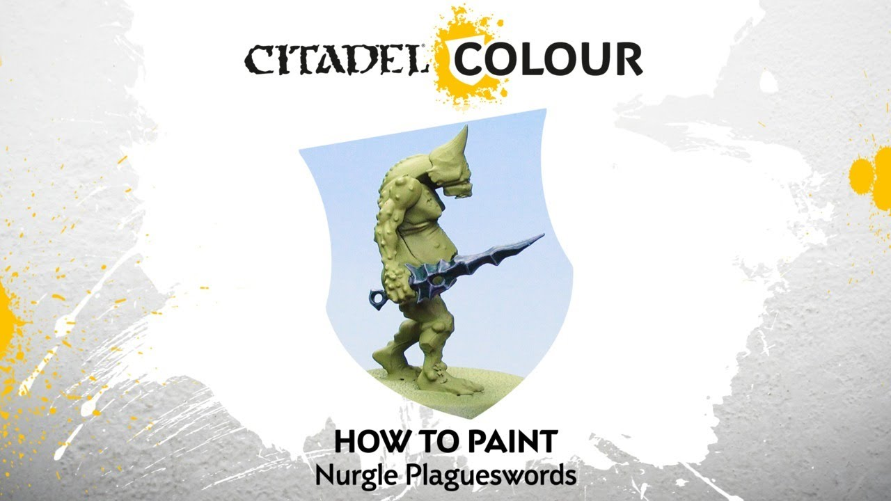How to Paint: Nurgle Plagueswords