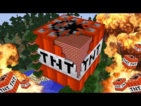 Minecraft HUGE TNT timelapse + explosion!