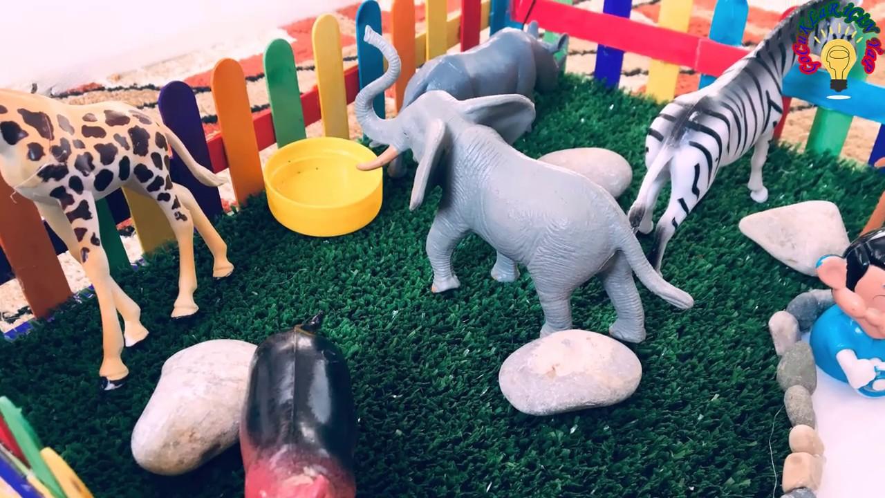 hayvanat bahçesi yapma hayvanlar bahçesi nasıl yapılır oyuncak hayvanlar alemi ZOO حديقة الحيوانات