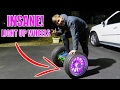 HUGE LED LIGHT UP WHEELS - WORLDS LARGEST HOVERBOARD VS Megawheels Hoverboard TW01
