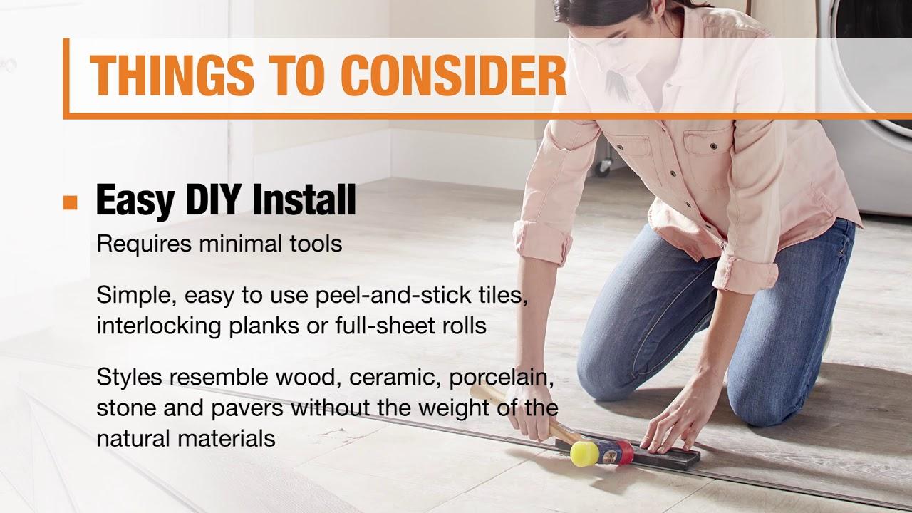 Types Of Vinyl Flooring The Home Depot