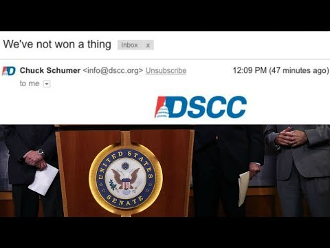 "Democrats Send Out Fundraising Email That Says ""We Haven't Won a Thing"""