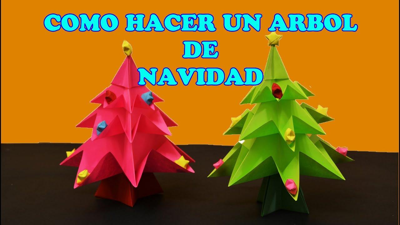 Como hacer un arbol de navidad con papel origami facil - Arboles de navidad de papel ...